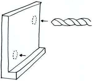 Drill metal plate