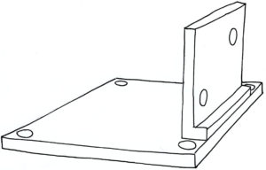 Plate and flange