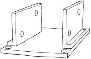 Sketch of steel base plate