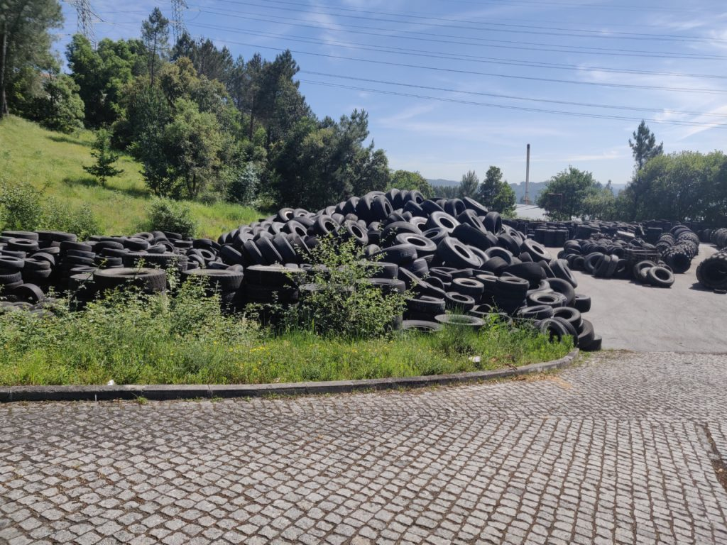Pile if trashed tyres
